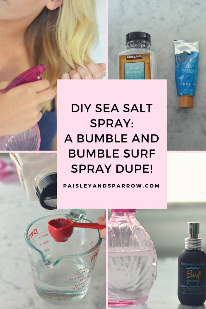 DIY Sea Salt Spray for Beachy Waves