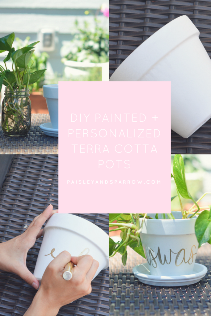diy terracotta pots tutorial