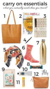 the 12 key things you need in your carry on when you travel