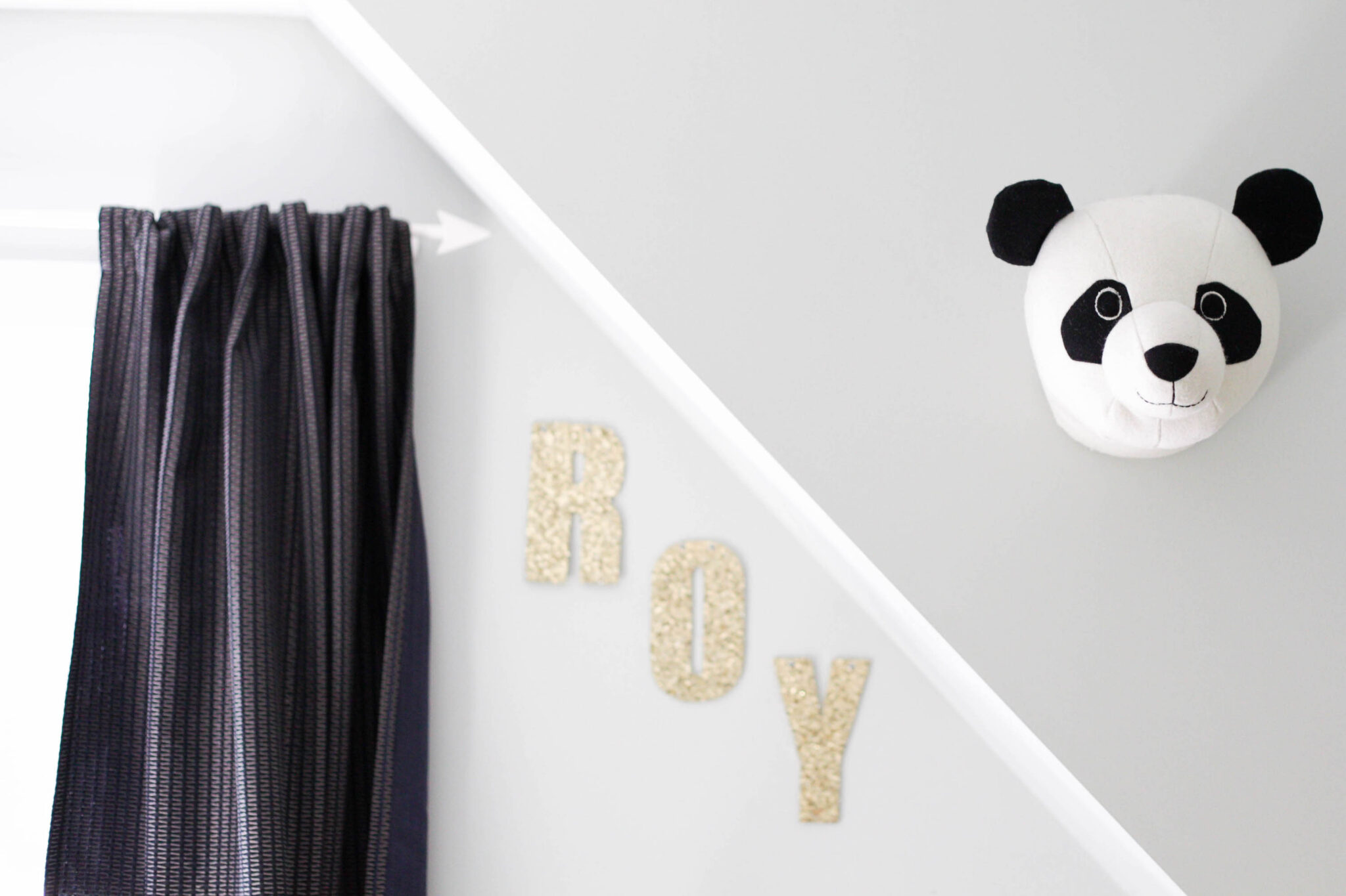 modern kids room glitter name pottery barn