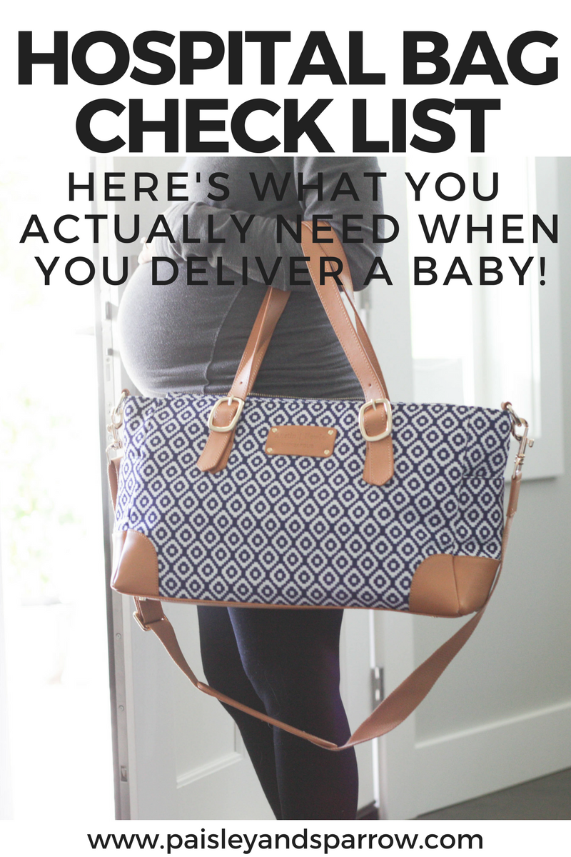 what to pack in your hospital bag when you're having a baby