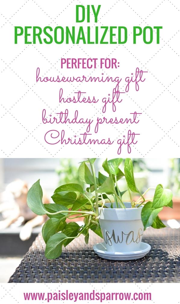 DIY: personalized planting pot