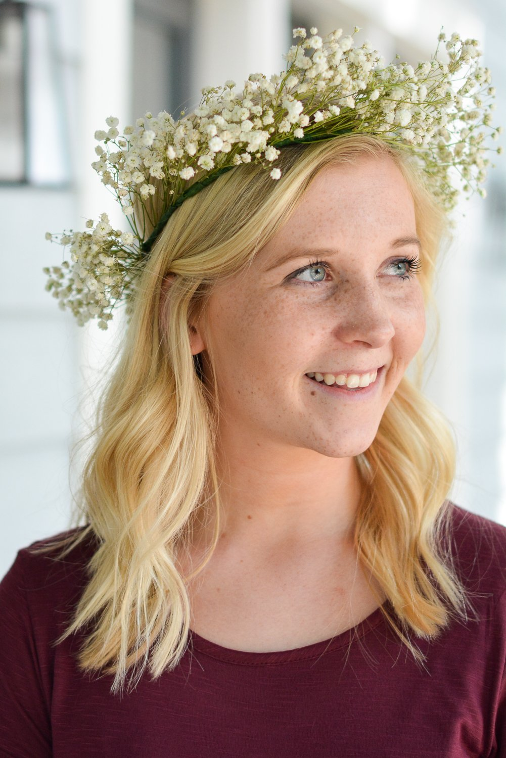Diy babys breath flower crown paisley sparrow finished babys breath flower crown izmirmasajfo
