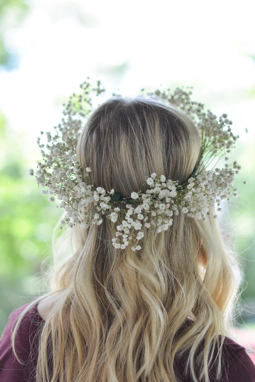 baby breath flower crown