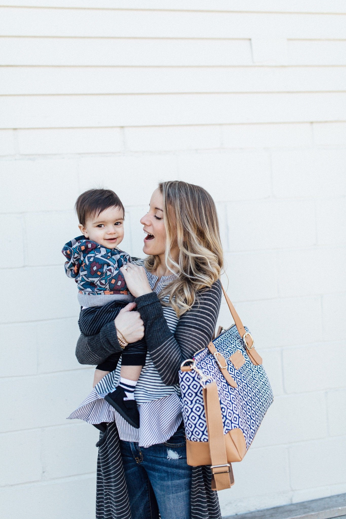 classy organized diaper bag by minneapolis brand austin fowler