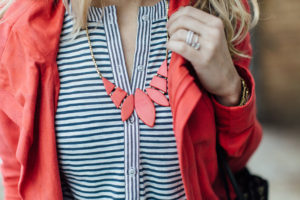 Red ethically made, fair trade necklace.
