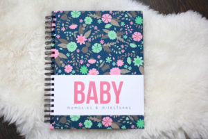 simple, cute and easy baby book - polka dot print shop