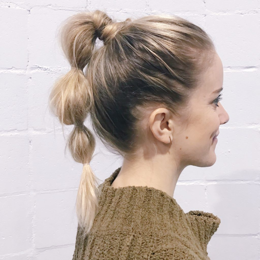 bubble ponytail is a way to cause damaged hair