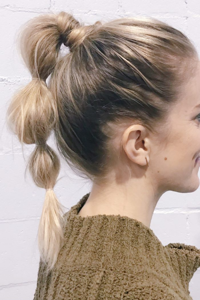 bubble ponytail how to