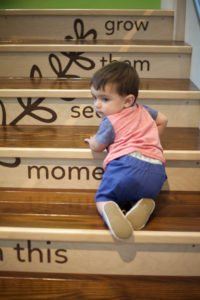 Climbing the stairs at the minnesota children's museum toddler section