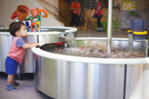 Exploring the water at the minnesota children's museum toddler section