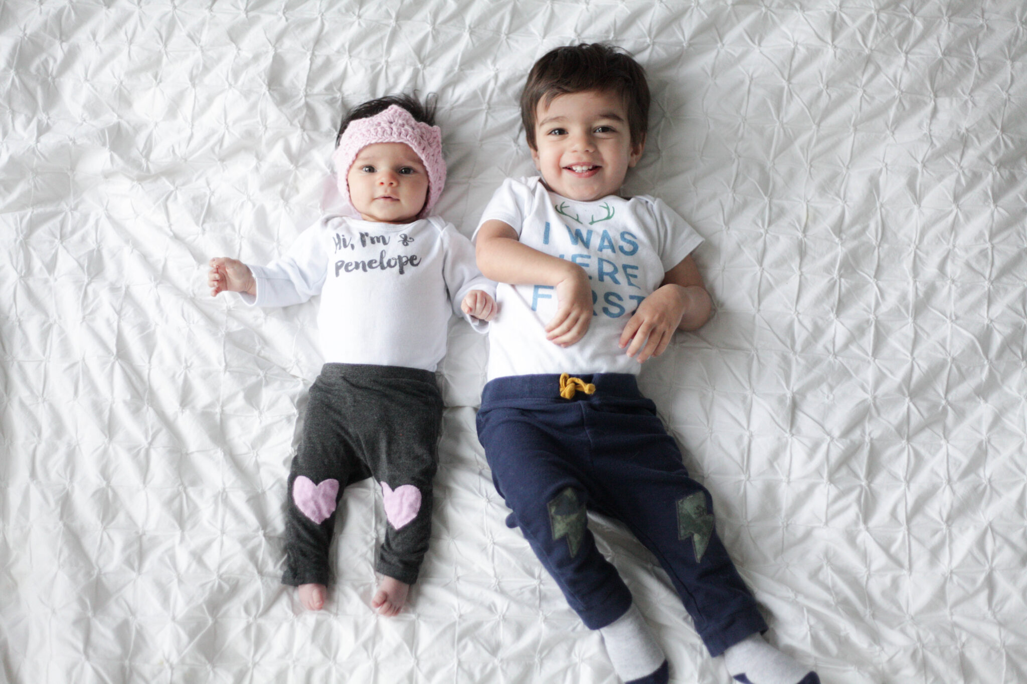 personalized baby onesies from hi little one on 2 kids under 2