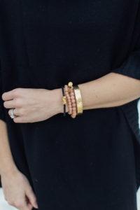 arm candy. stack of bracelets