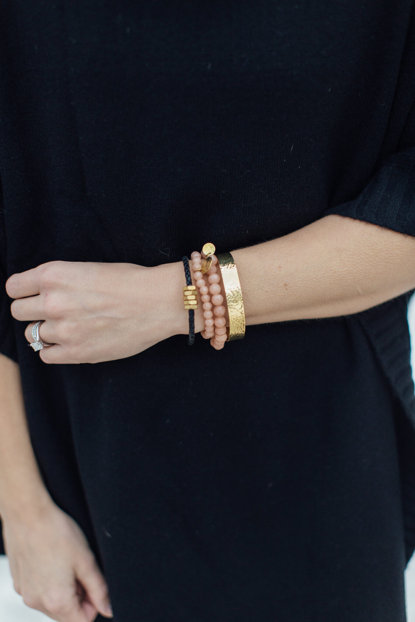 arm candy. stack of bracelets