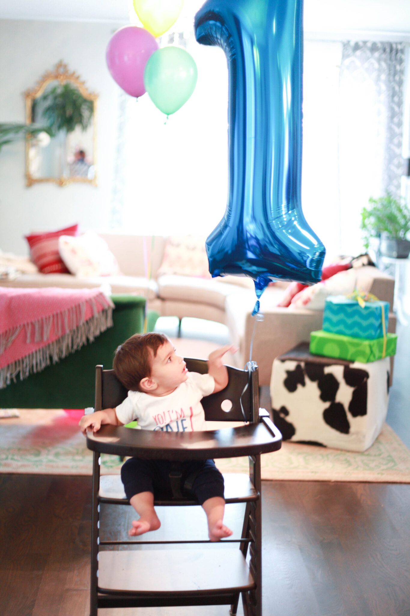 1 year old colorful dr seuss birthday party