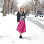 an easy outfit for transitioning from winter to spring