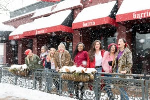 Mix like a mother group with local minneapolis mamas at barrio on a snowy day.