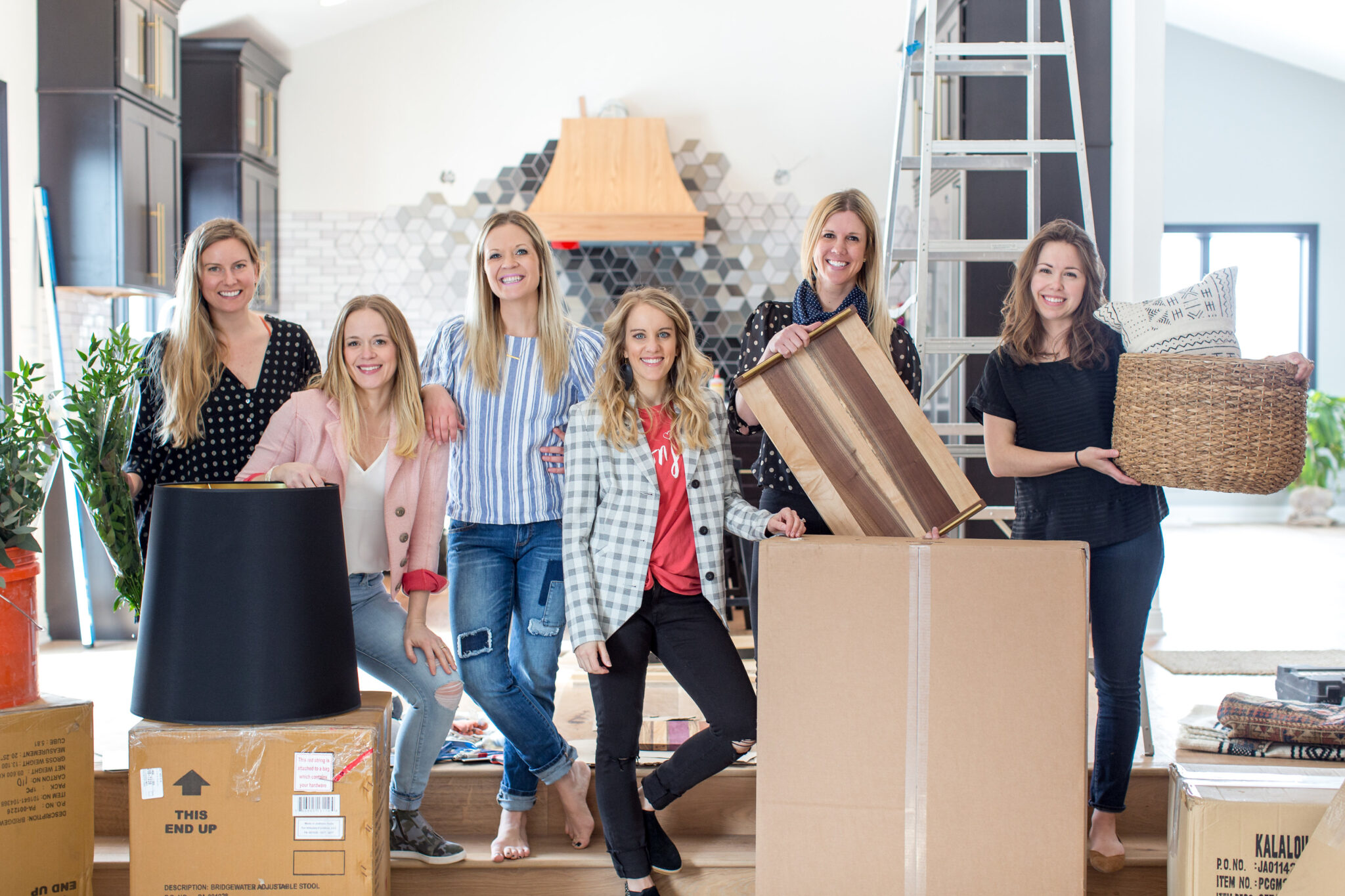 the dream team of home stylers including Morgan from construction2style, Jen from Paisley + Sparrow, Katie from JKath Design and Erin from Francios et moi