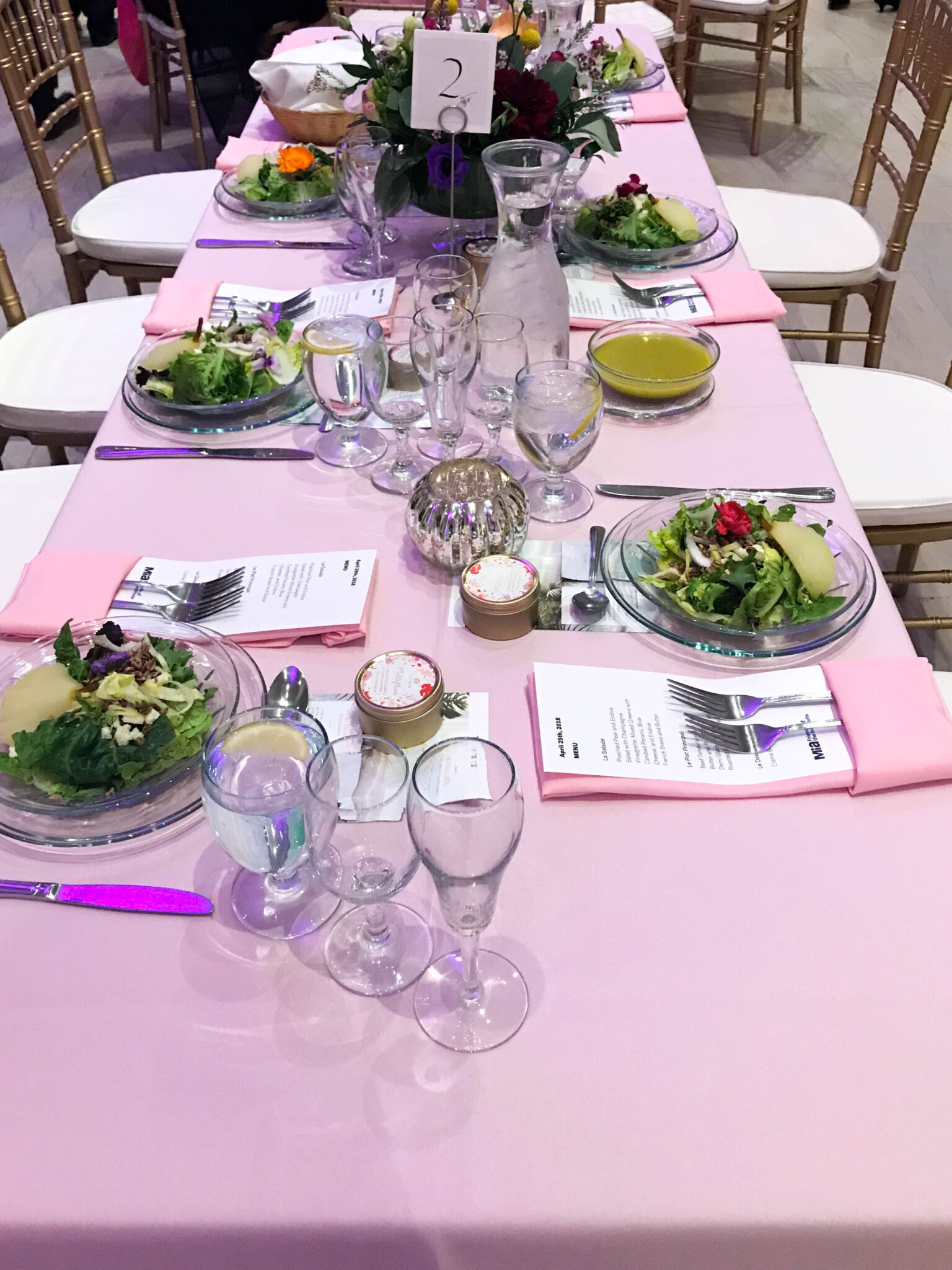 Tablescape at MIA's Art in Bloom in 2018