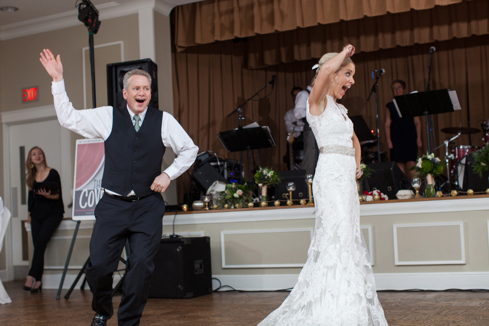 Being funny during a fun father daughter wedding dance