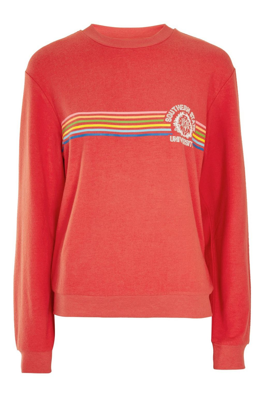 Simple red sweatshirt