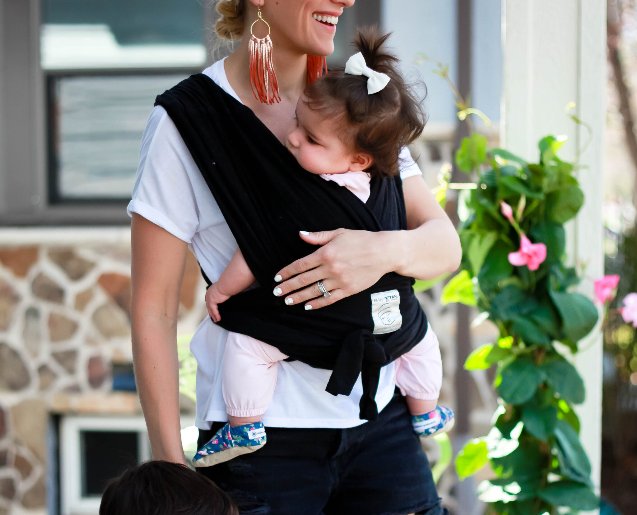 baby k'tan baby carrier - great option for 2 under 2