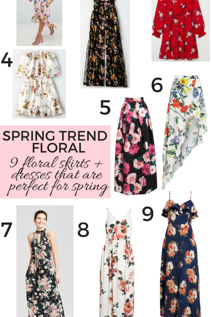 spring trend – the best floral dresses, skirts and rompers