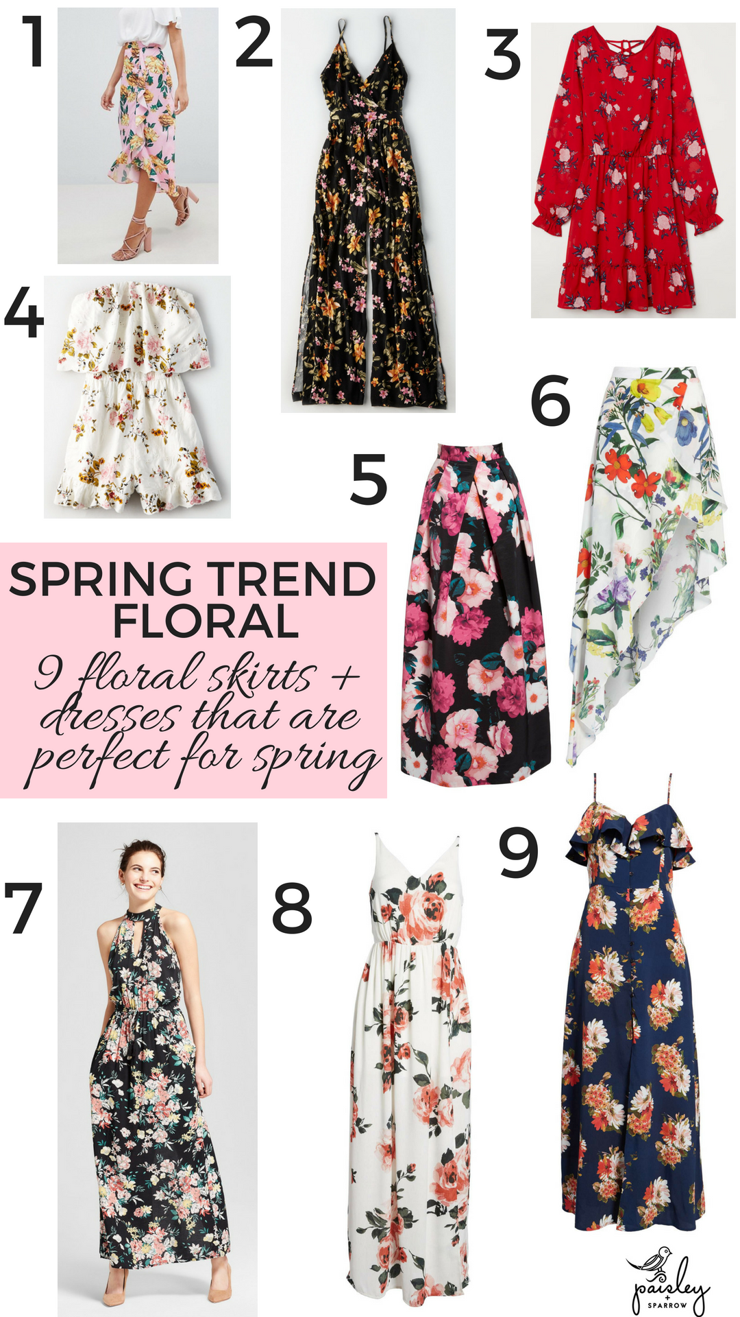 2019 year for women- Dresses floral for spring