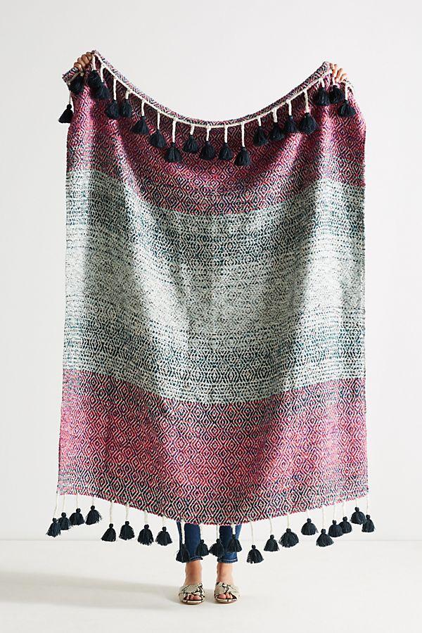 Woven Sundown Throw Blanket
