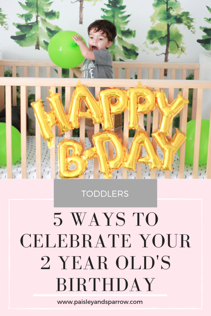 5 Tips for Celebrating Your 2 Year Old's Birthday