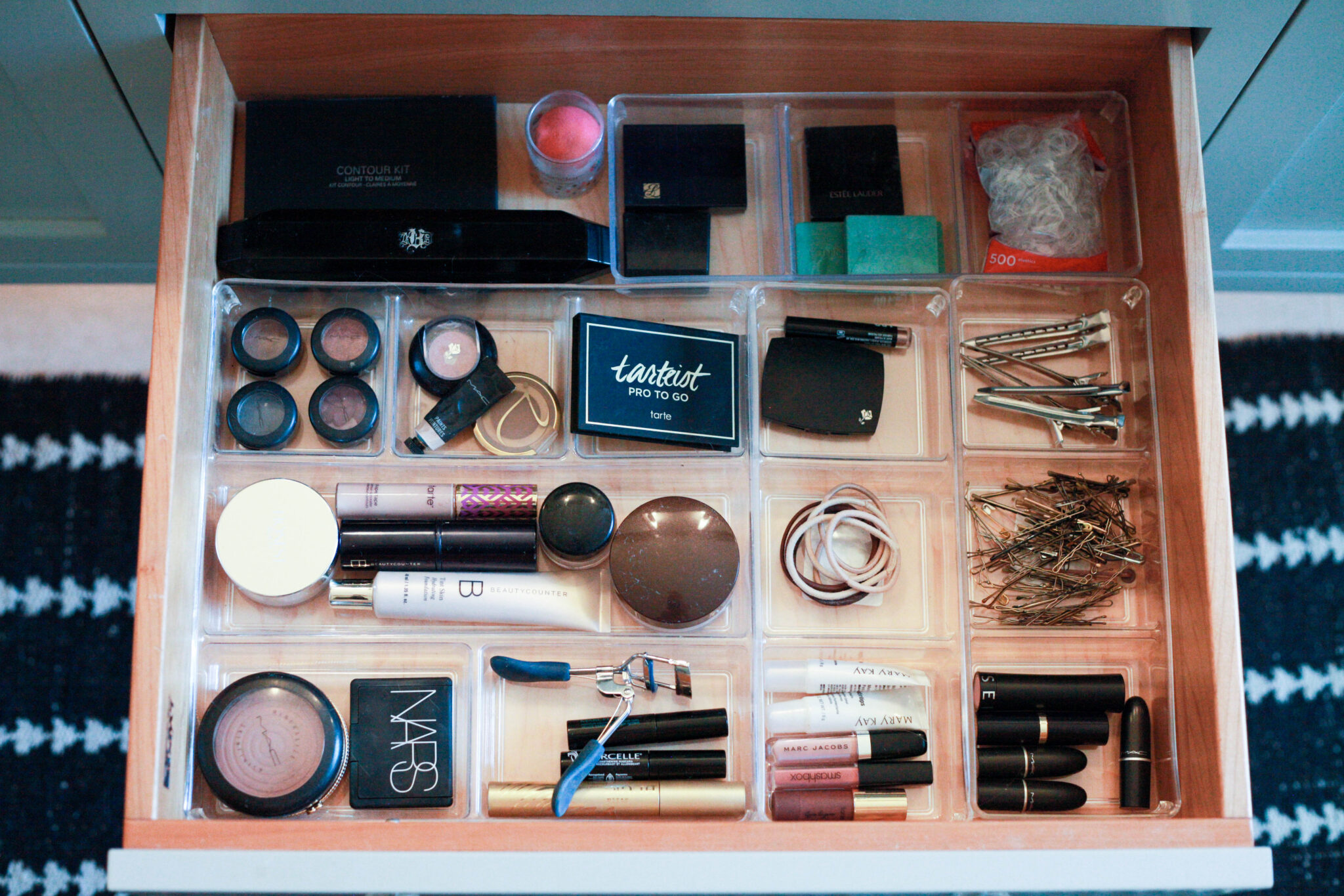 organized makeup drawer: how to organize makeup!