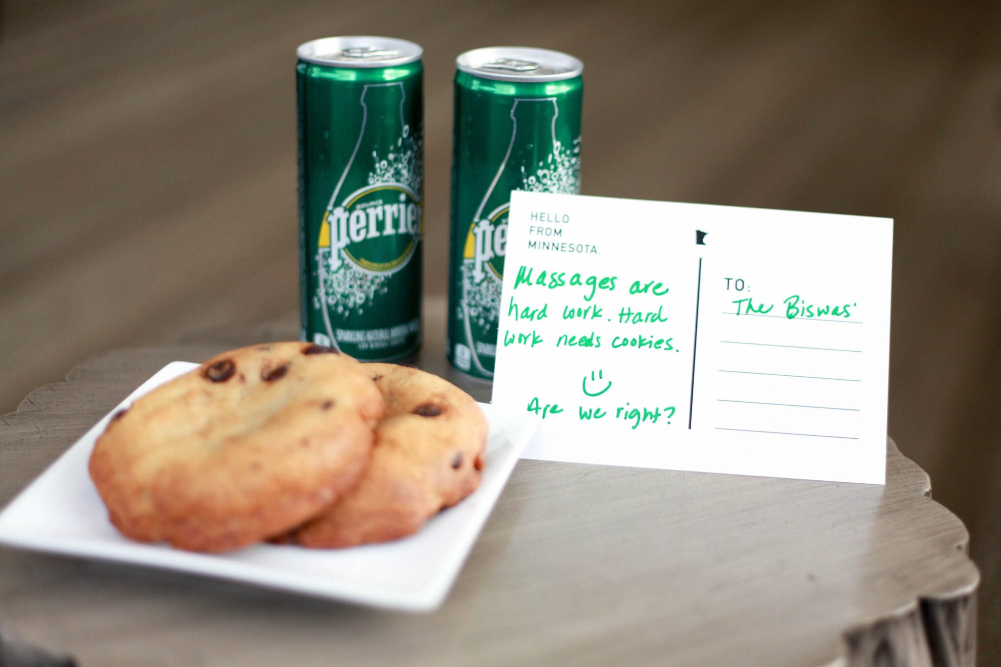 perrier and cookies at grand hotel.jpg