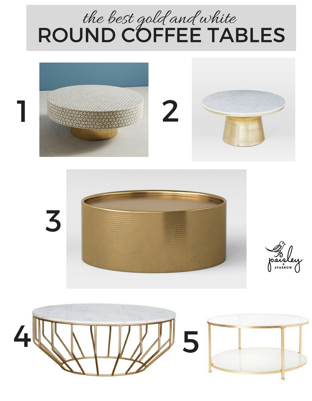 the best round coffee table optoins