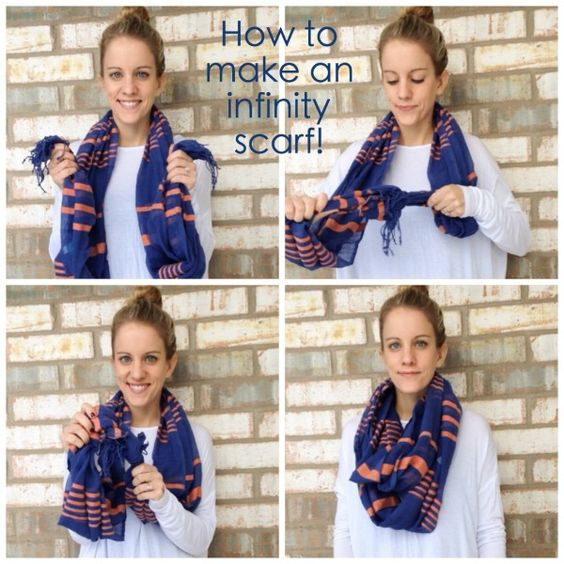 how to make an infinity scarf from a regular scarf