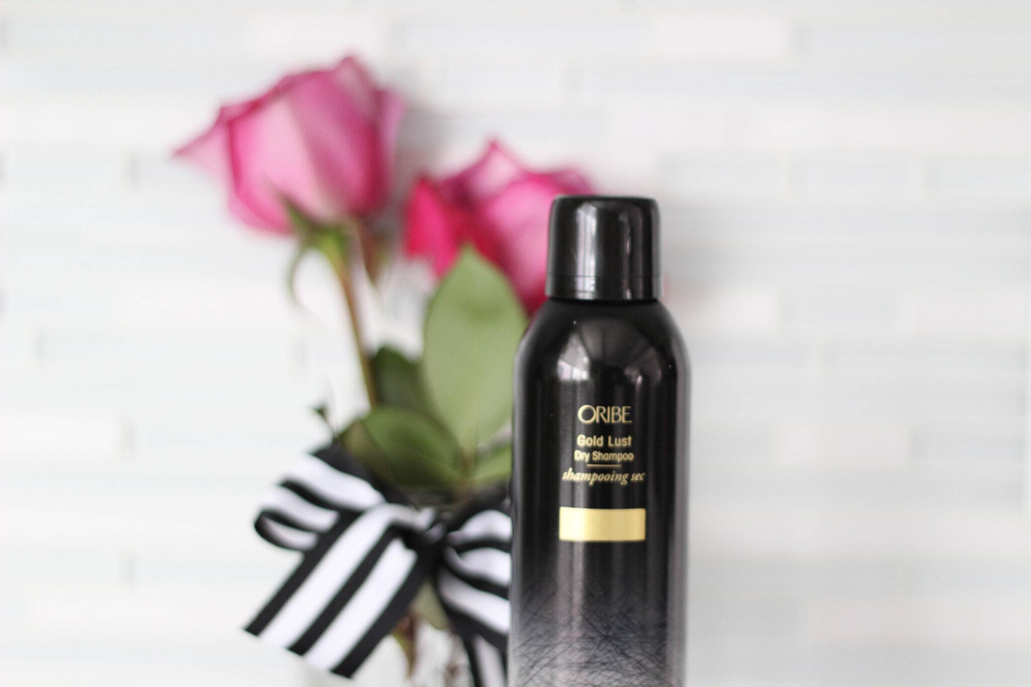 how to use dry shampoo - oribe gold lust dry shampoo
