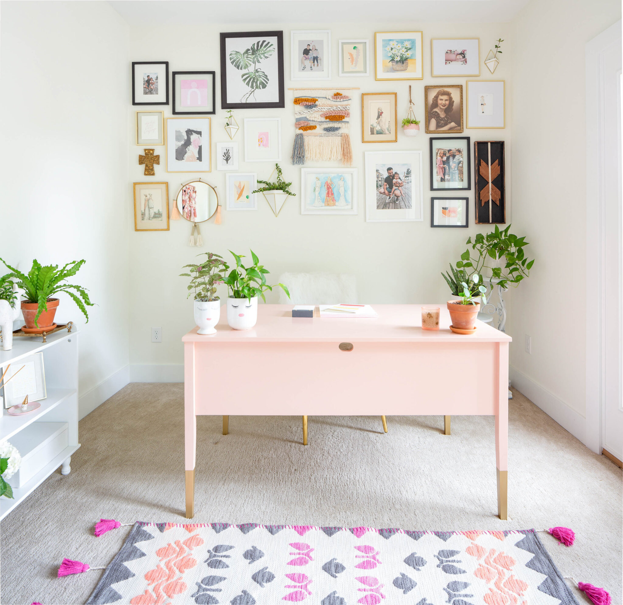 girly pink home office office
