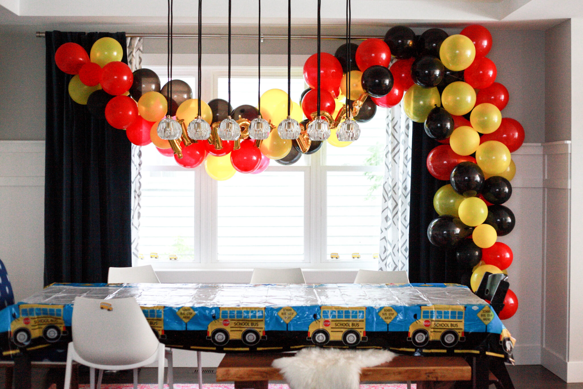 mickey mouse balloon arch red, yellow and black balloons (1 of 1)-2