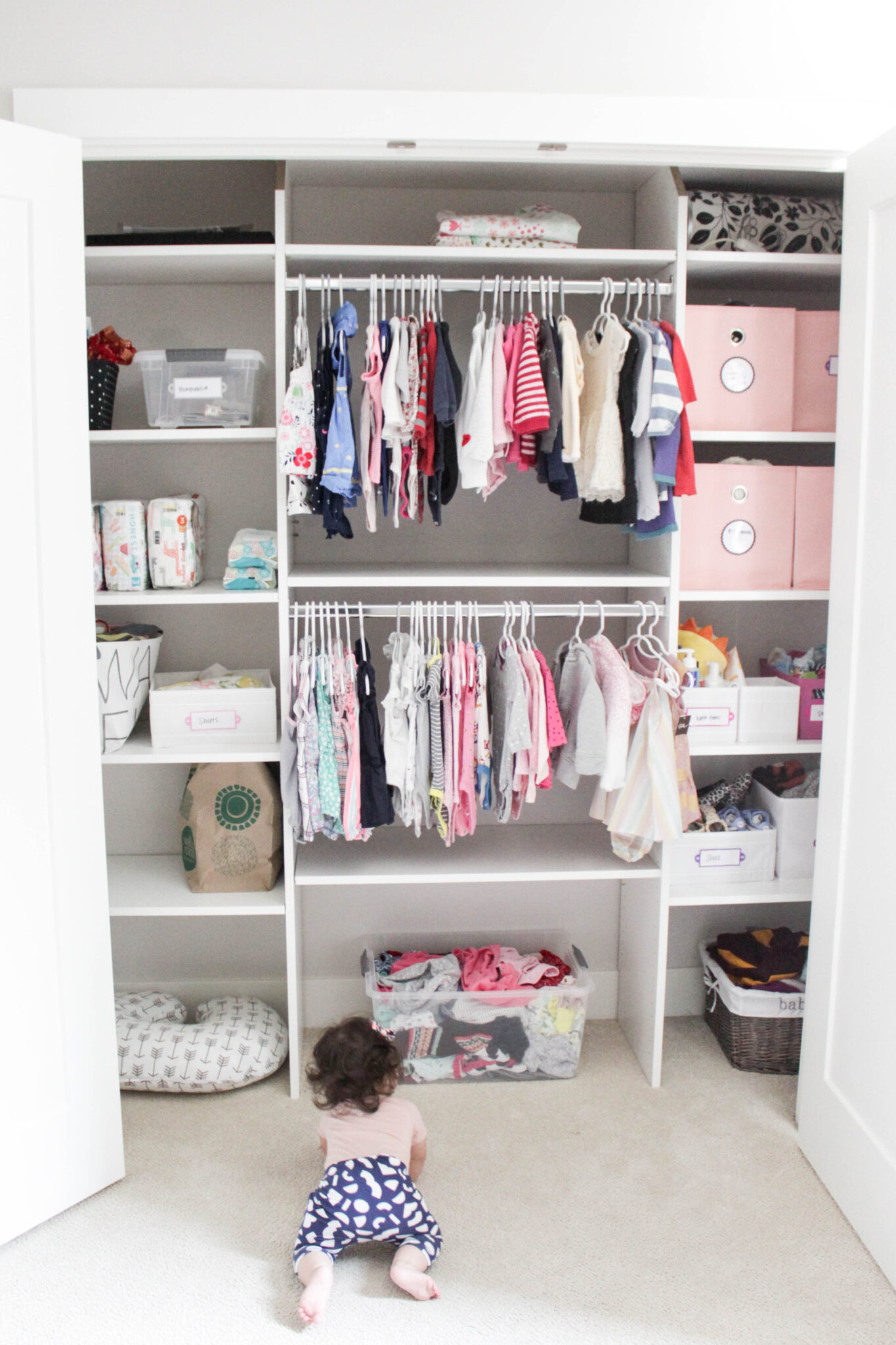 67962c72b58 7 Tips for Organizing Baby s Closet