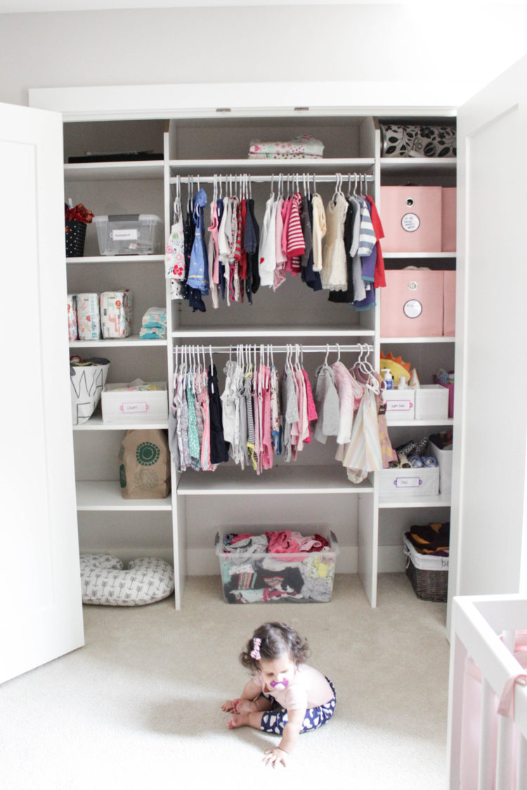 7 Simple Tips for Organizing Baby's Closet {VIDEO!}