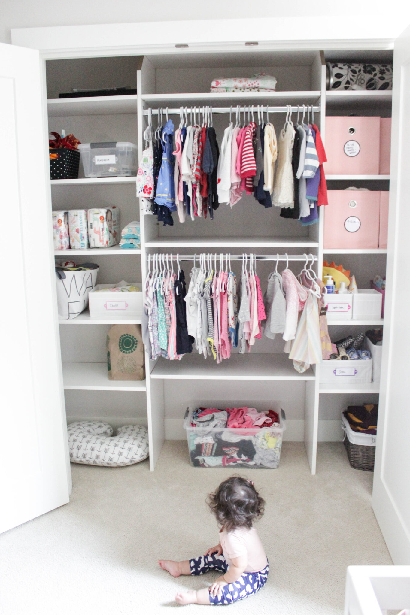 7 Tips For Organizing Baby S Closet Video Paisley
