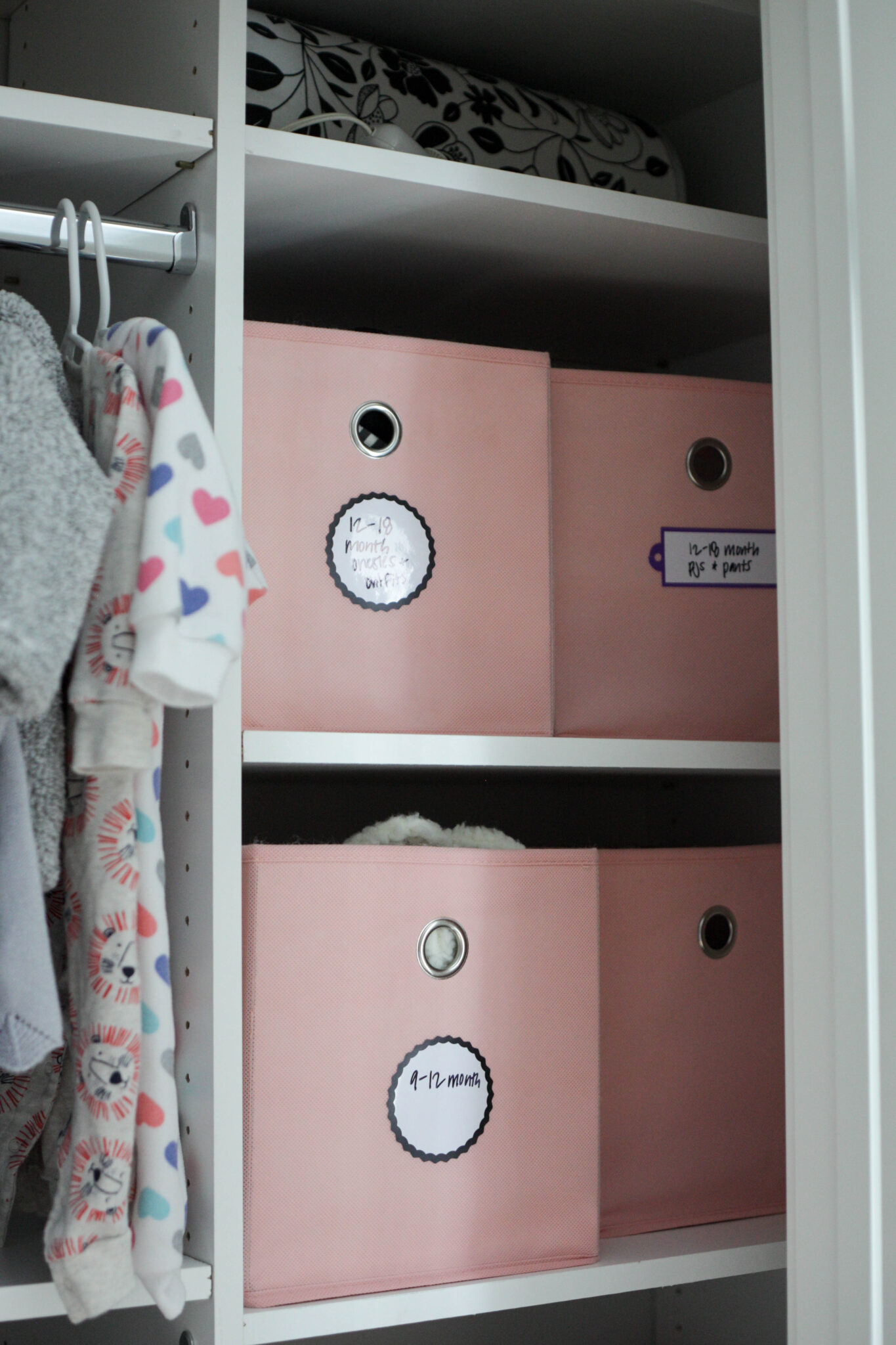 organizing baby closet - clothes that are too big