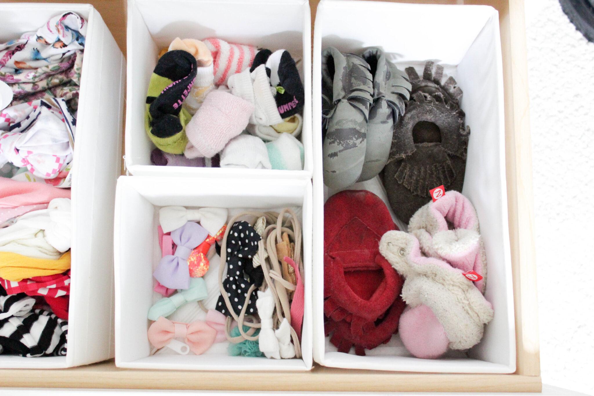 organizing baby's closet - dresser drawers