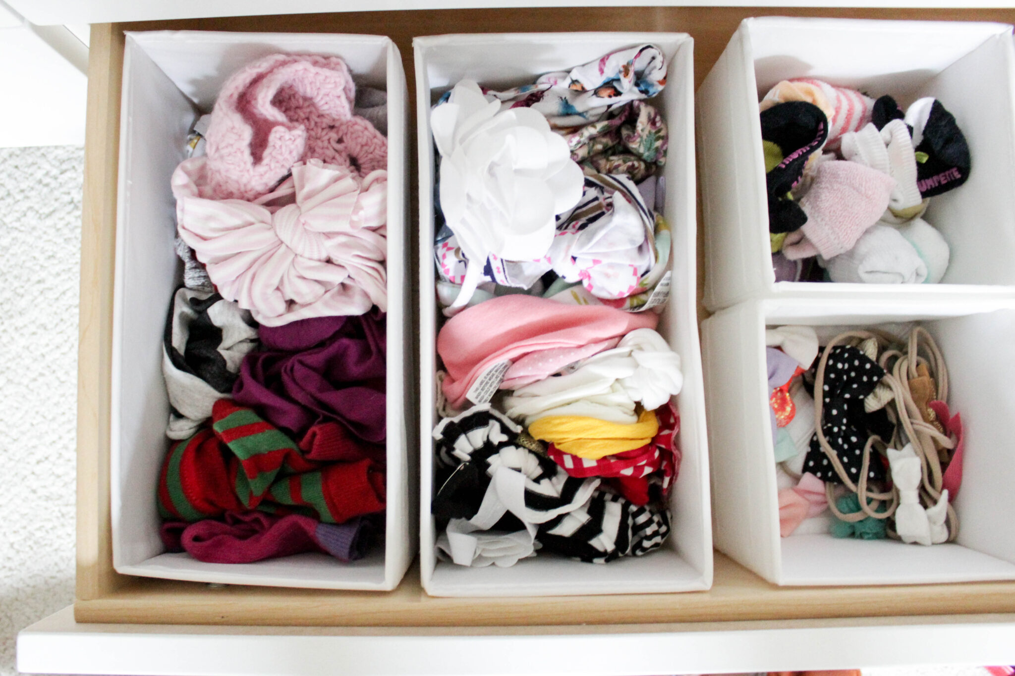 organizing baby's closet - dresser drawers