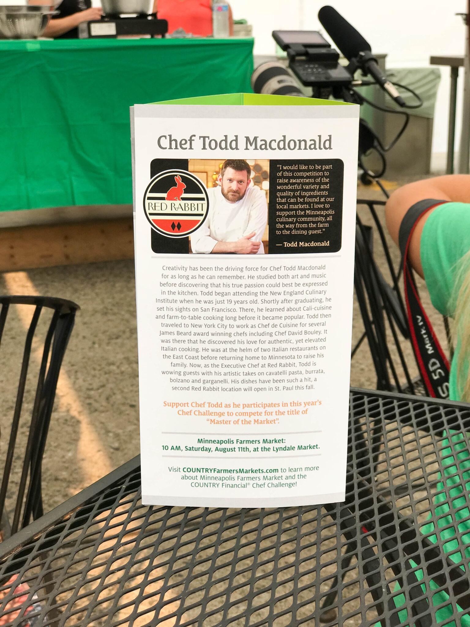 Chef Todd Macdonald
