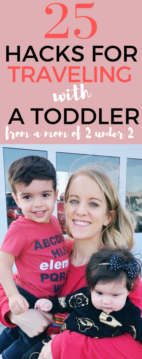Traveling with a toddler? You need to read these 25 tips for traveling with a toddler! Learn from my mistakes to have an enjoyable trip! #toddler #momlife #travel