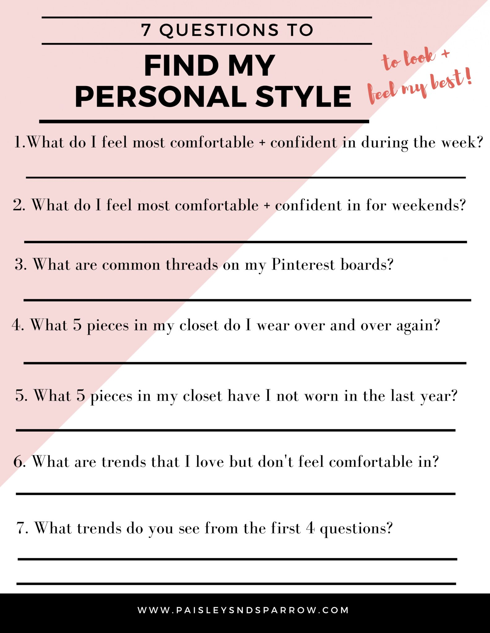 7 Questions for finding your personal style