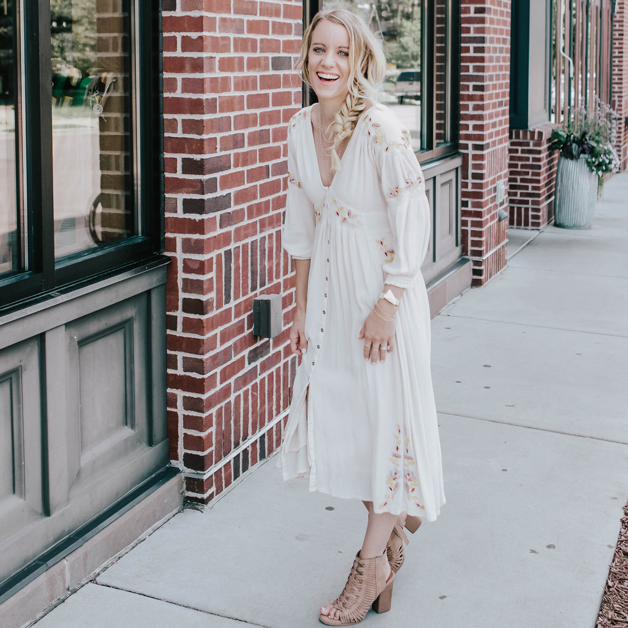 white free people dress - 5 tips for self care