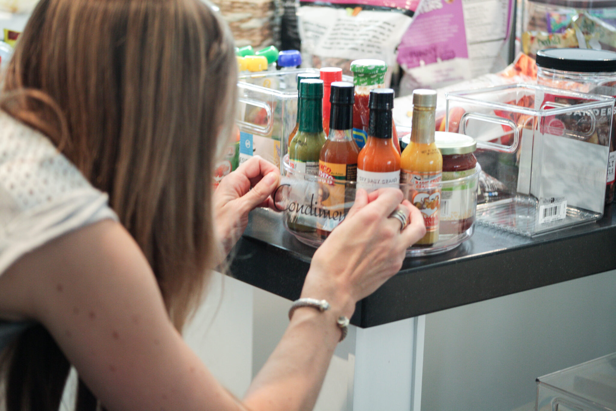 Using labels to organize kitchen pantry