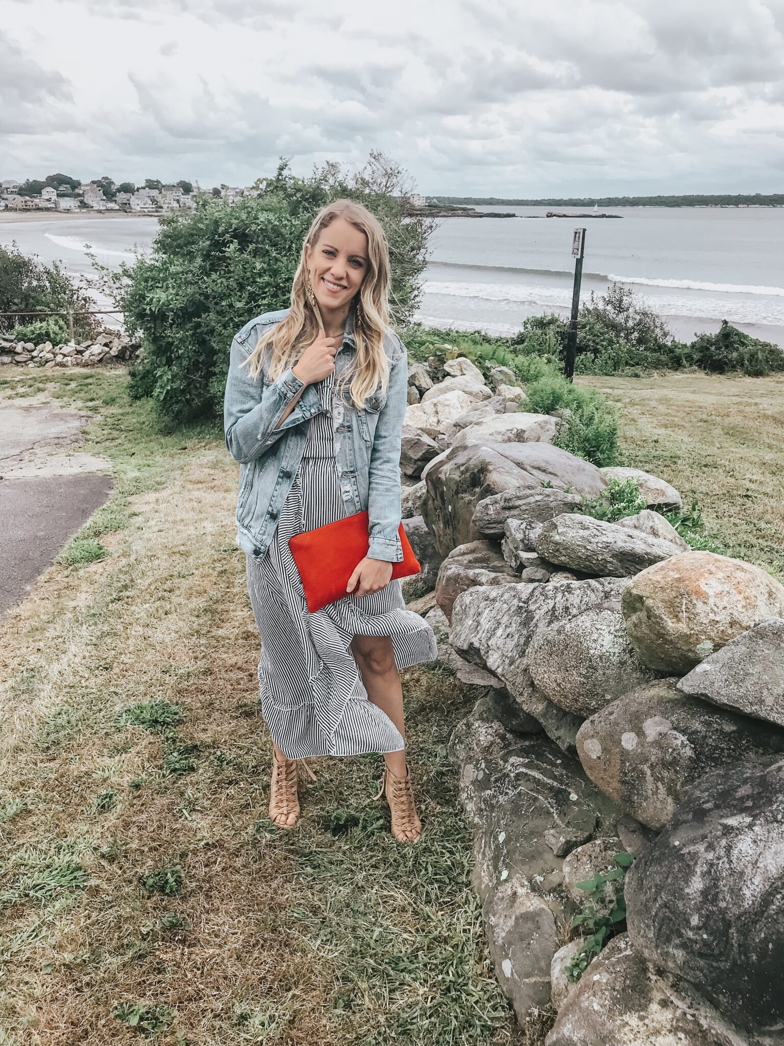 tips for wearing a denim jacket - over a dress!