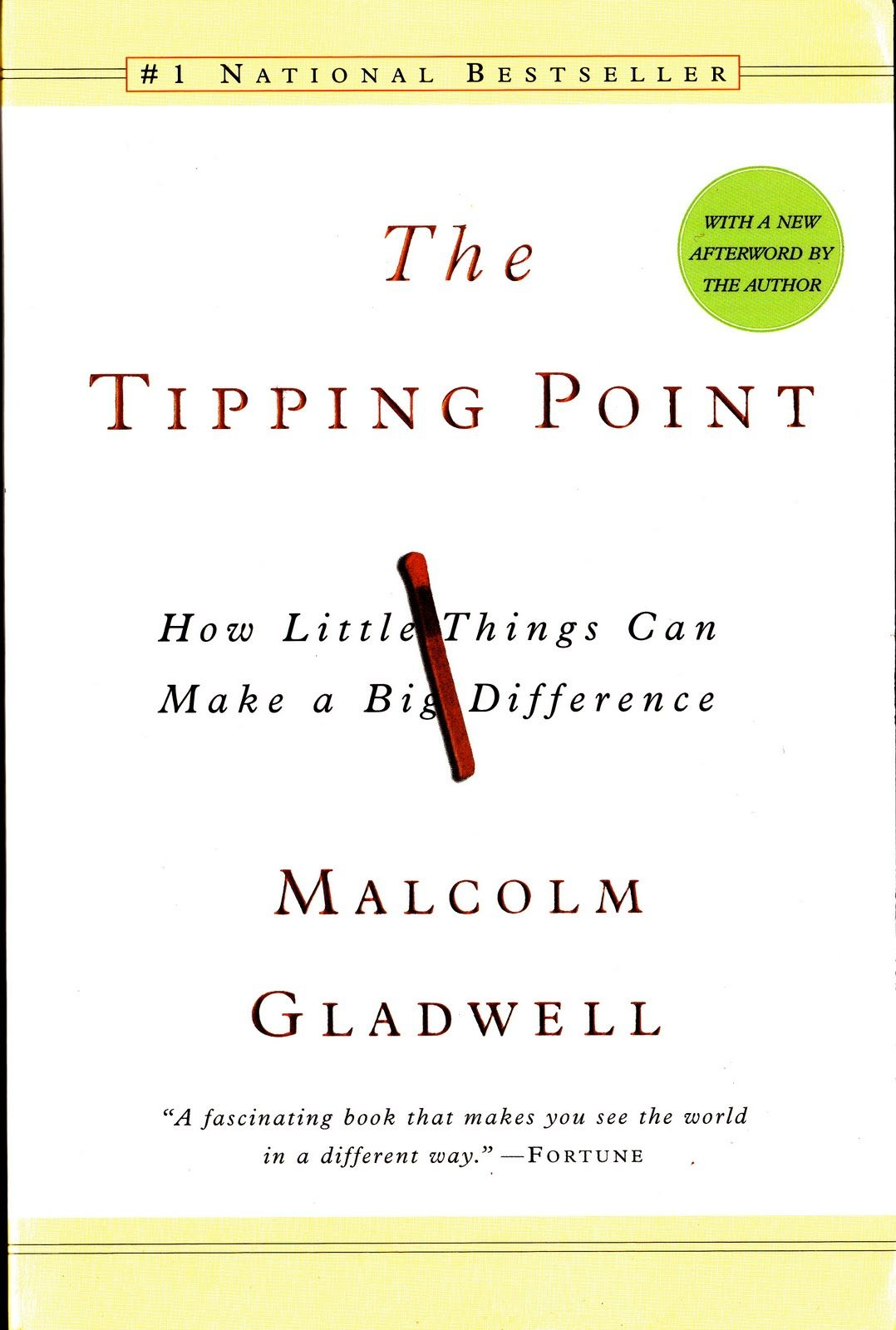 tipping point by Malcom Gladwell